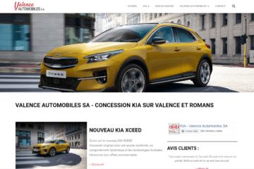 Site Internet Valence Automobiles par AdFeed