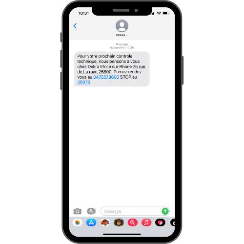 EXEMPLE SMS DEKRA